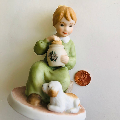 Little Girl and Puppy - The Potters House Kids Figurine