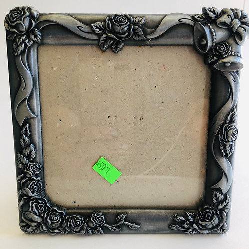 "6"" Square Pewter Photo Frame"