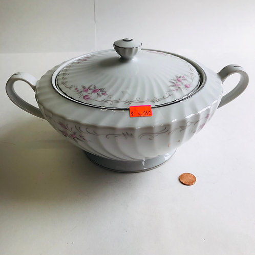 Small Rose Pattern Serving Dish