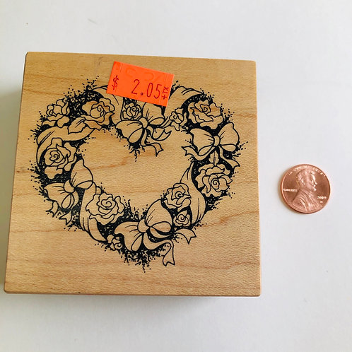 Rose Heart Stamp