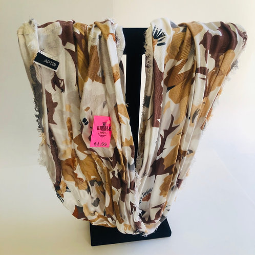 APT 9 Brown Floral Scarf