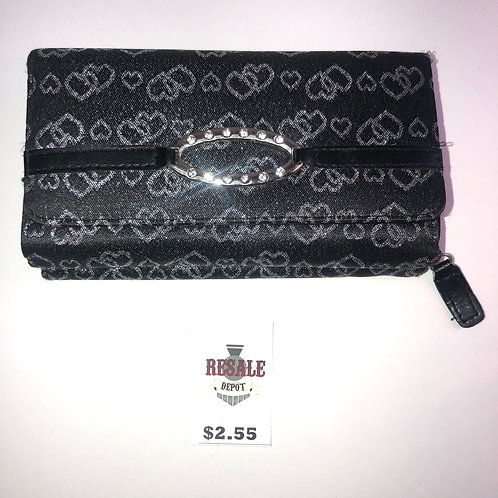 Black & Silver Heart Wallet