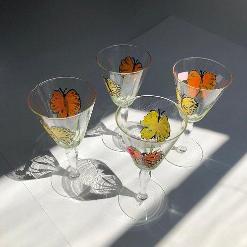 Butterfly Stem Glasses