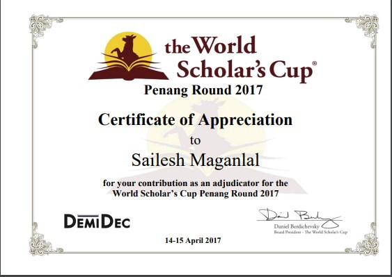 the World Scholar's Cup Penang Round 2017