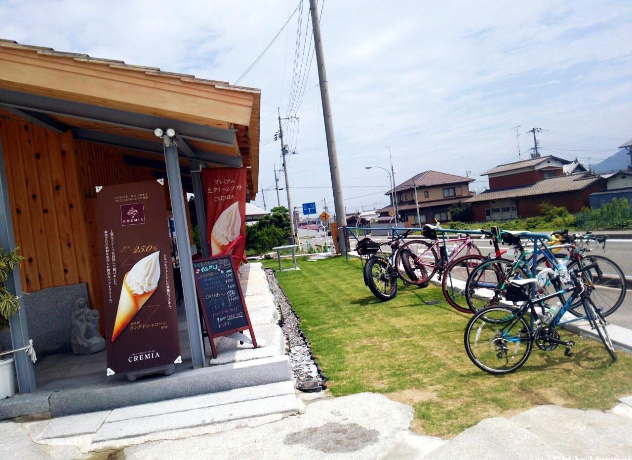 石のカフェ・サイクリング