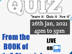 Online Bible Quiz on 26th January 2021