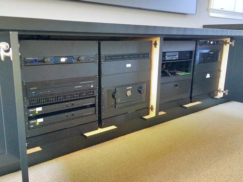 Media Room Equipment Rack