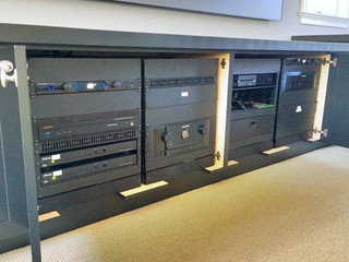 Media Room Equipment Rack
