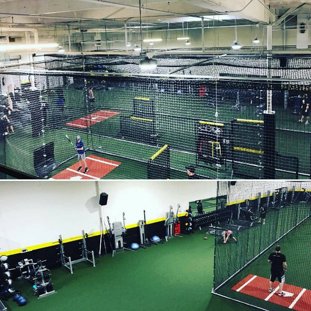Workout and cage areas.