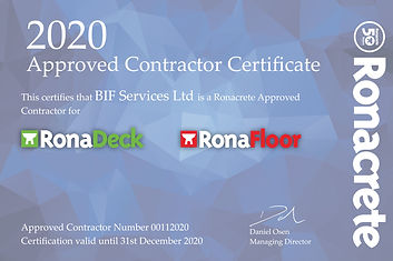2020 Approved Contractor Certificate - B