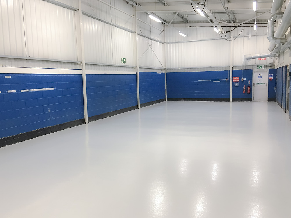 BIF refurbished this manufacturing area, 15 years after installing the original resin floor screed.