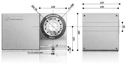 Hofmann RWNC -125 Dimensional Sketch