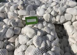 Galet blanc pur en filet de 20kg