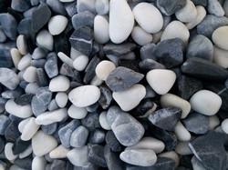 Galet mélange - blanc,gris,noir