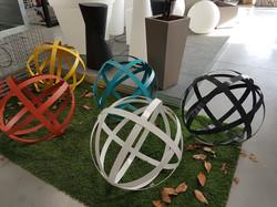 Sphère en acier