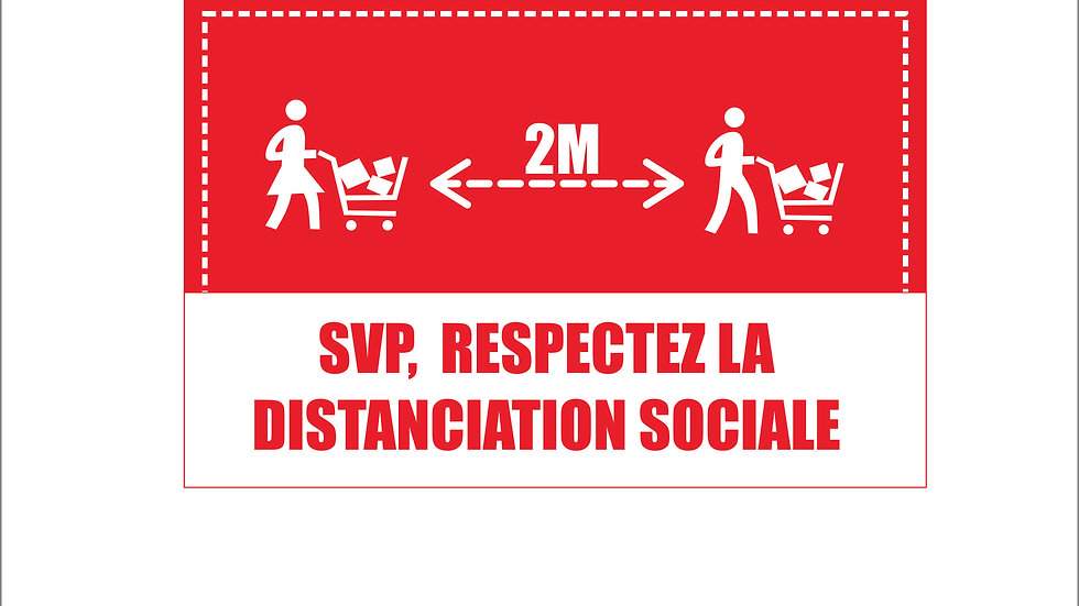 Distanciation sociale magasinage