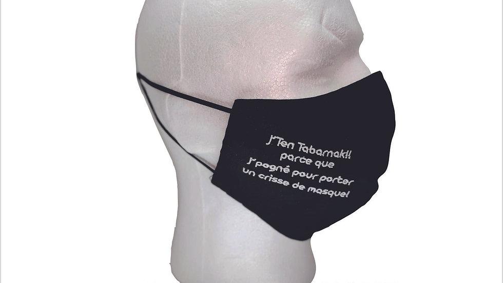 Masque lavable - J'T'EN TABARNAK