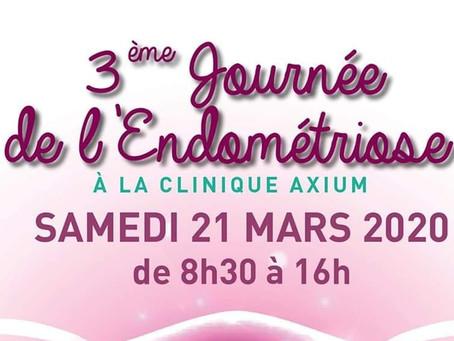 """3ème journée """"Endométriose"""" du Centre L'AVANCEE à la Clinique Axium le 21 mars 2020"""
