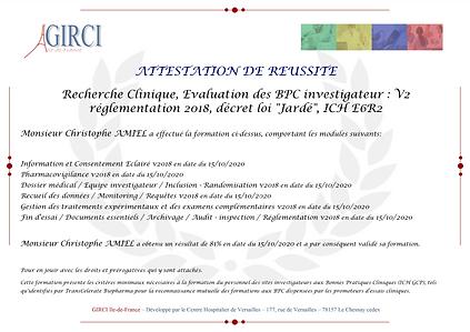 Certificat BPC Christophe Amiel le 15-10