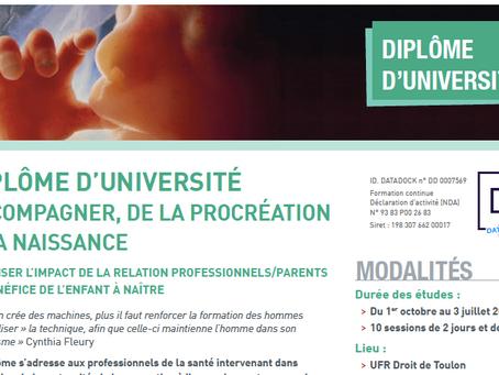 """Diplôme Universitaire """"Accompagner, de la procréation à la naissance"""" avec le Dr Amiel de l'Avancée"""