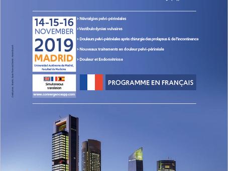 Congrès Convergences in Pelviperineal Pain 2019 en Espagne Présidée par le Dr E. Bautrant