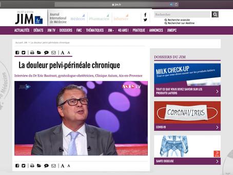 Interview sur JIM TV sur les Douleurs pelvi-périnéales du Dr Eric Bautrant, chirurgien à l'Avancée.