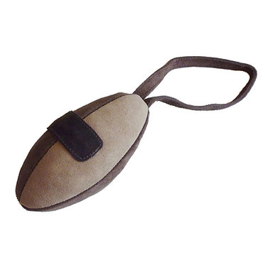 UK Leather Suede Rugby Ball Chew Toy