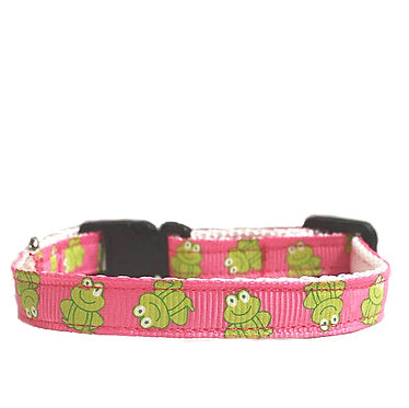 Paws n Claws Ribbon Collar for Cats Friendly Frogs