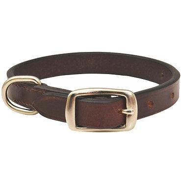 Jeffers Flat Leather Premium Collar Brown
