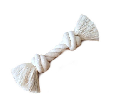 Knotted White Cotton Rope Bone