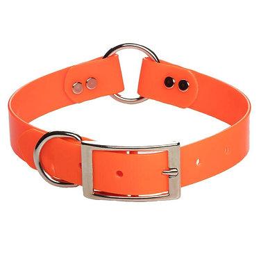 Mendota Biothane Center-Ring Dog Collar Orange