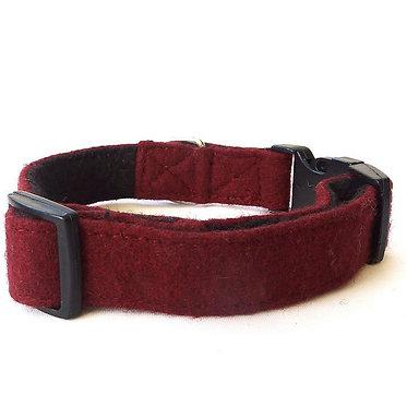 Hailey & Oscar UK Wool Collar Burgundy