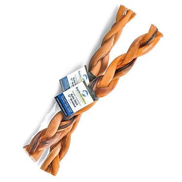 Barkworthies Braided Beef Bully Stick