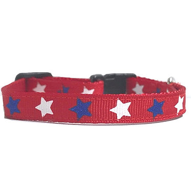 Paws Claws Ribbon Collar Small Dogs Puppies Patriotic Stars