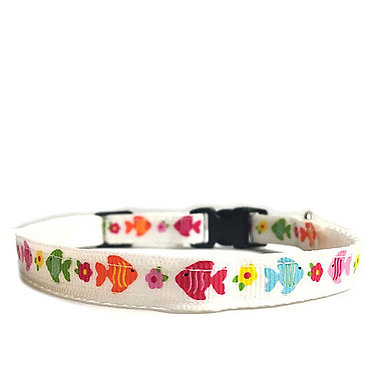 Paws n Claws Ribbon Collar for Cats Fishies
