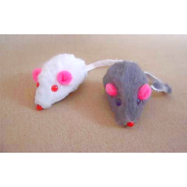 Real Fur Mice Cat Toy