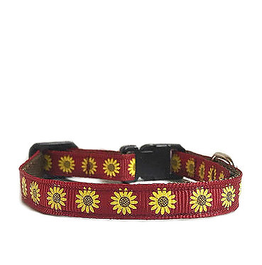Paws n Claws Ribbon Collar for Cats Sunflowers