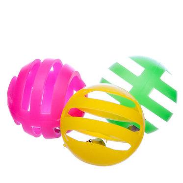 Plastic Lattice Balls with Bell Cat Toy