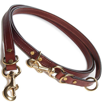 Mendota English Bridle Leather Jaeger Lead