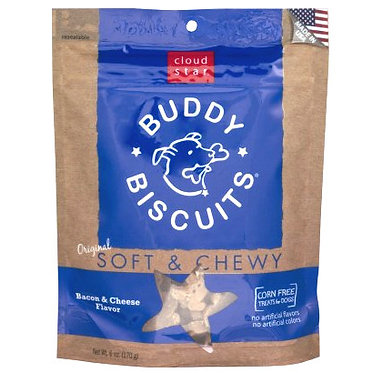 Buddy Biscuits Soft & Chewy 6 oz. Bag Bacon & Cheese