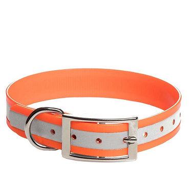 Mendota Duraflect Hi-Viz Dog Collar Orange