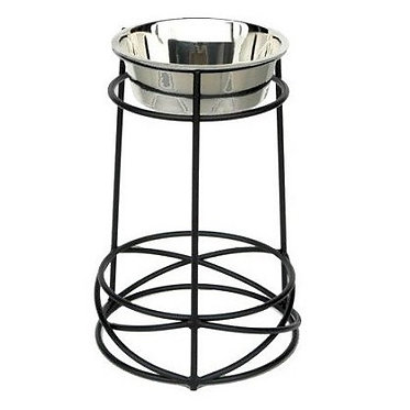 Tall Mesh Elevated Bowl Big Dog Wrought Iron Stainless Steel