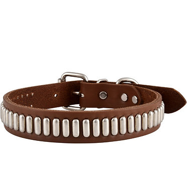 Leather Brothers Bully Collar Studded Oblong Front