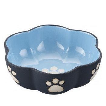 Vienna Stoneware Dog Dish Blue Large