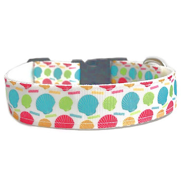 Paws & Claws Ribbon Collar Seashells Nylon