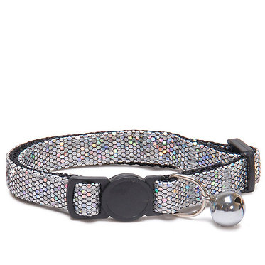 Sparkle Breakaway Cat Collar Silver
