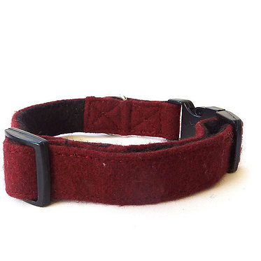 Hailey & Oscar UK Wool Collar Burgundy