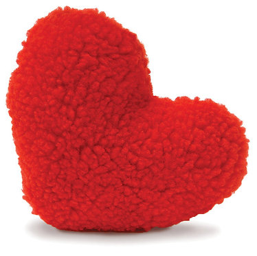 Fleecy Red Heart Squeaker Toy