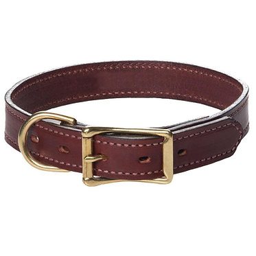 Mendota Wide Leather Standard Collar 1""