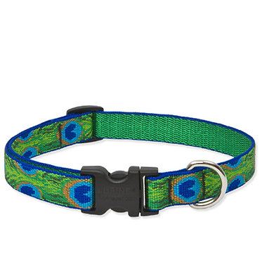 """LupinePet Lupine 3/4"""" Adjustable Collar Nylon Webbing Tail Feathers"""